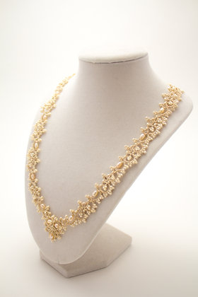 Giselle Necklace in Cream