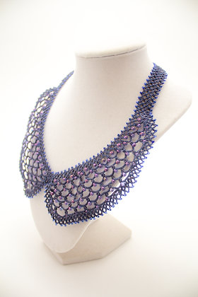 L235A Navy Collar Necklace