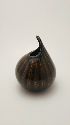 Small Harlequin Vase in Burnt Onyx