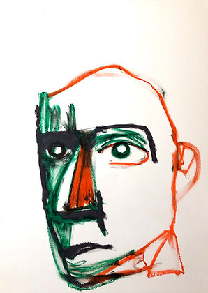 Untitled (Oil Pastel on Paper #9)