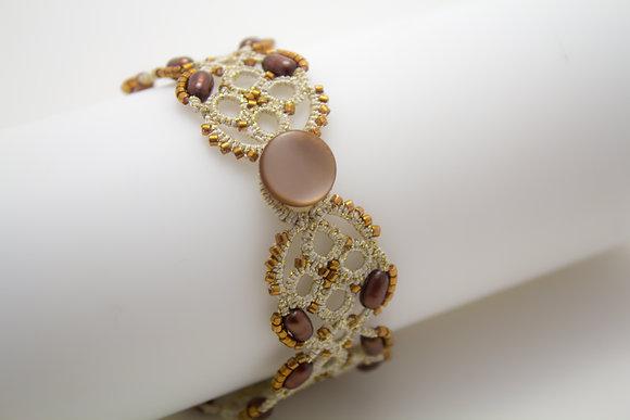 S714 Pearl/Coffee Bracelet