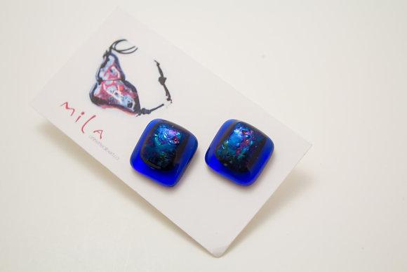 Blue Oil Slick Earrings