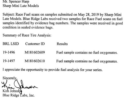 Lakeview Sharp Chassis Tech Inspection Results
