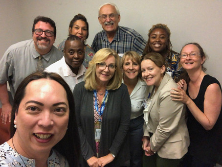 LGBTSHC and LGBTQ advocates gather at the Office of the New Jersey Long-term Care Ombudsman
