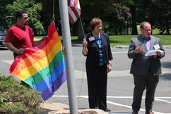 Green Hill Senior Living raises the first rainbow flag at a nursing home in the state of New Jersey.