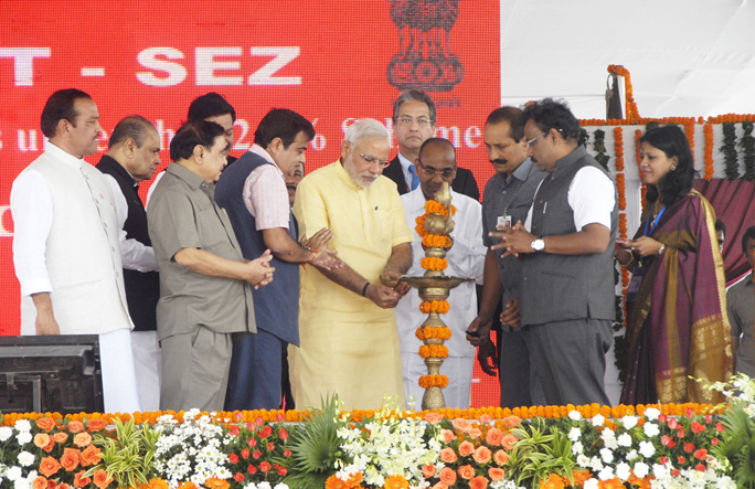 PM Lays Foundation Stones Of JNPT