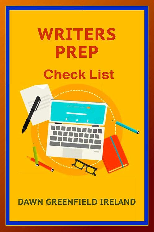 Writers Prep Check List