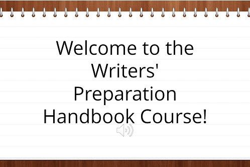 Writers Prep Handbook ONLINE COURSE