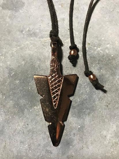 copper arrowhead necklace