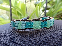 Affordable Aqua Glass Beaded Friendship Bracelet