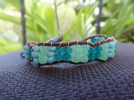 Affordable Aqua Glass Beaded Friendship Bracelet