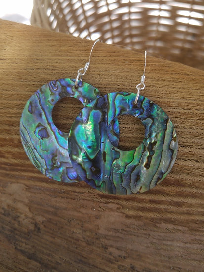 Sexy Big Hoop Chic Abalone Shell Earrings
