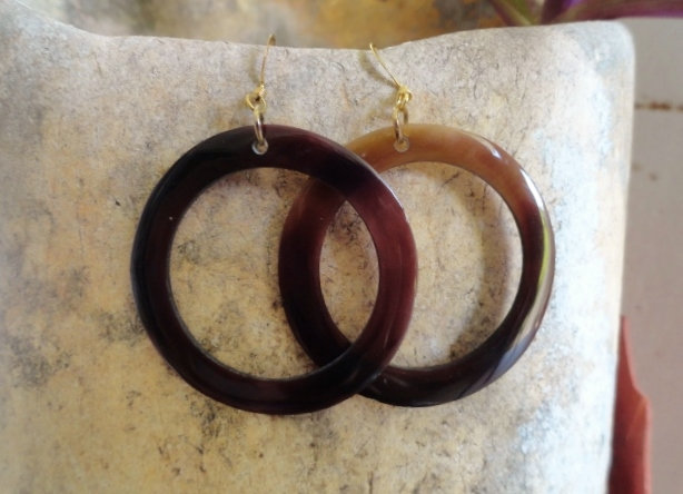 Affordable Chic Hoop Natural Shell Earrings