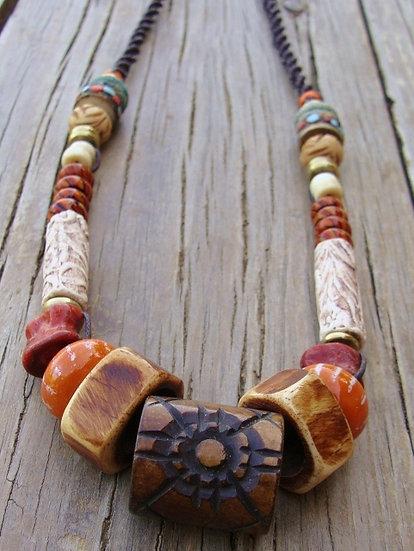 graduating bone necklace