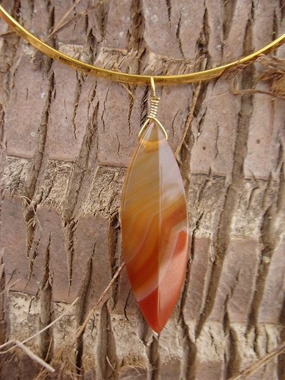 Chic Carnelian Dagger Natural GemStone Necklace