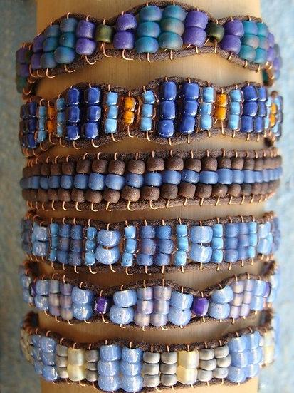 Blue Glass Bead Affordable Friendship Bracelets