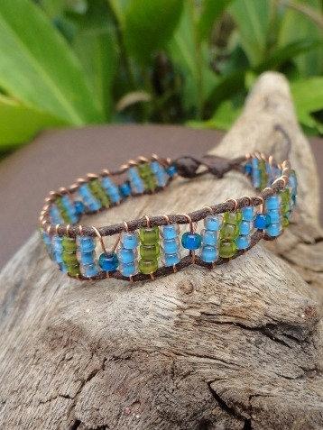 Blue Glass Beaded Affordable Friendship Bracelet