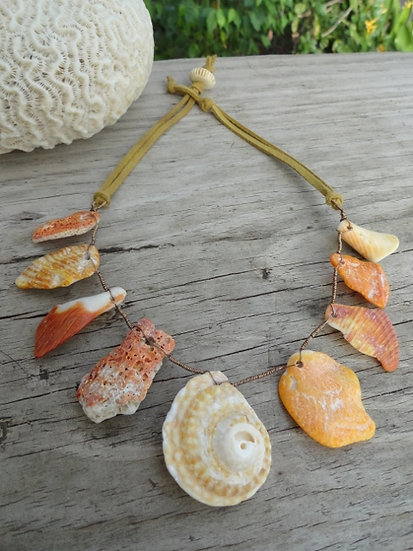 Ocean Tumbled Natural Sea Shell Necklace