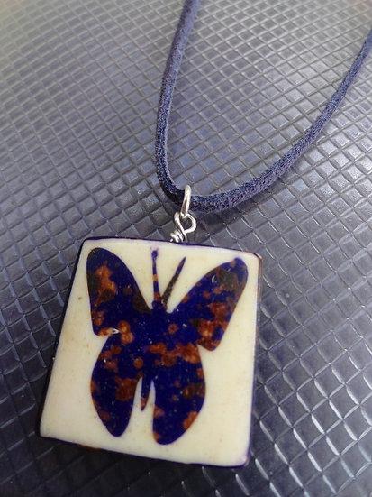 Natural Bone Butterfly Kids Animal Pendant Necklace