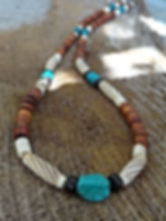 long men's natural necklace