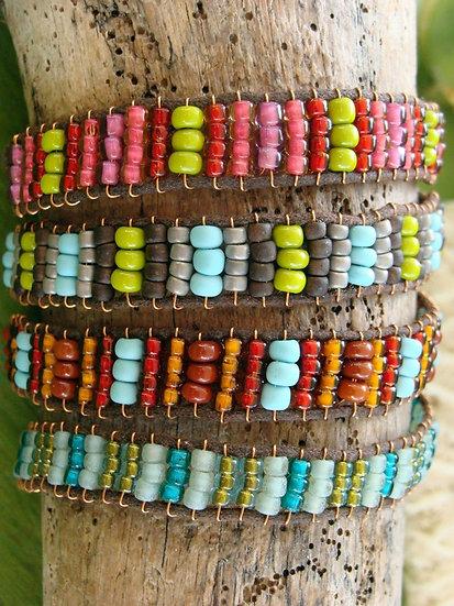 Colorful Glass Bead Beaded Friendship Bracelets