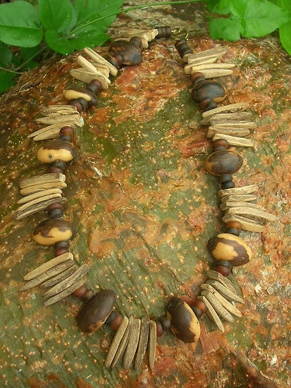 Bohemian Seed & Coconut Wood Natural Necklace
