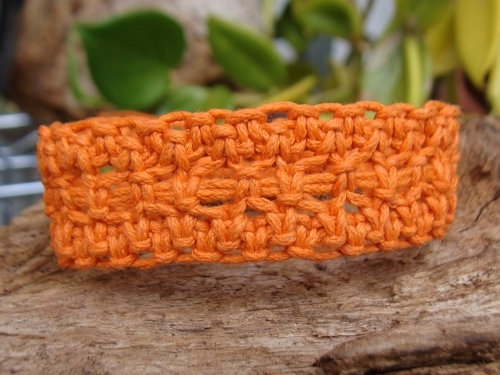 macrame tangerine orange surf bracelet