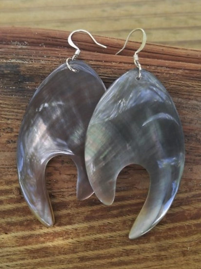 Affordable Chic Large Drop Natural Shell Earrings