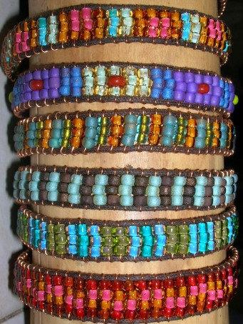 Colorful Beaded Glass Bead Friendship Bracelets