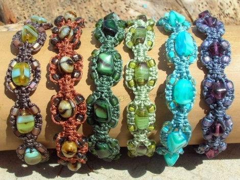Colorful Chic Glass Bead Nonmetal Macrame Bracelets