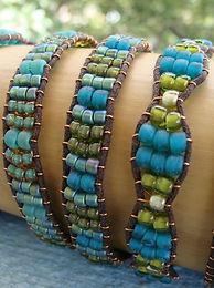Affordable Aqua Glass Bead Friendship Bracelets