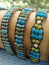 Affordable Aqua Glass Bead Friendship Bracelets
