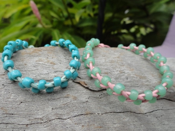 Glass Beaded Leather Affordable Kid Bracelets