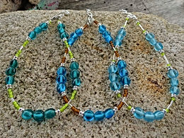 Affordable Beaded Colorful Glass Bead Sexy Anklets