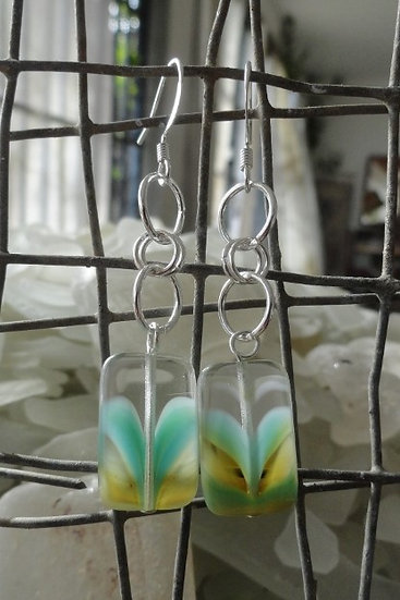 Sexy Long Dangle Chic Clear Glass Bead Earrings