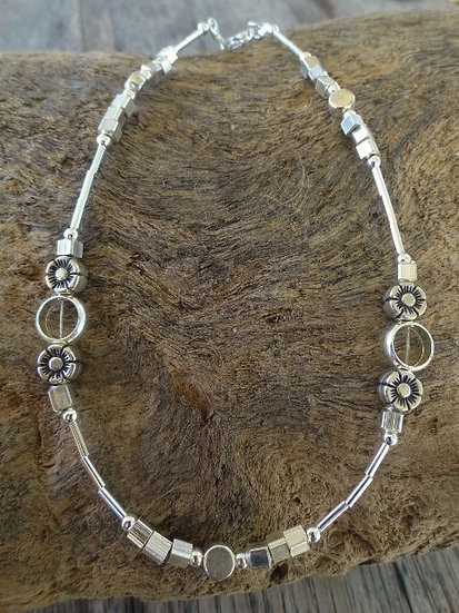 Affordable Silver Metal & Glass Bead Sexy Anklet
