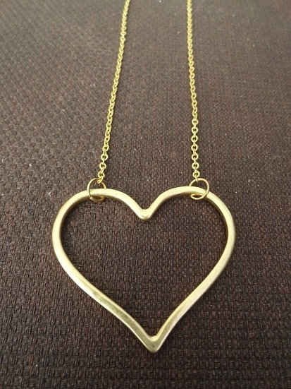 Chic & Affordable Matte Gold Heart Necklace