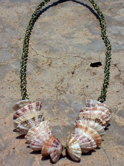 Nonmetal Macrame Natural Shell Surfer Necklace