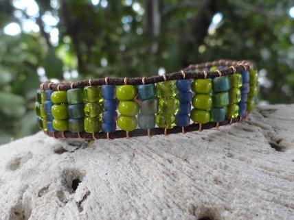 Affordable Green Glass Beaded Friendship Bracelet