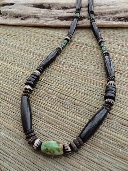 Natural Bone Horn Bead Cool Beach Surfer Necklace