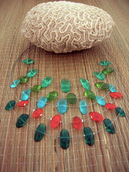 Island Chic Affordable Colorful Glass Bead Floating Necklaces