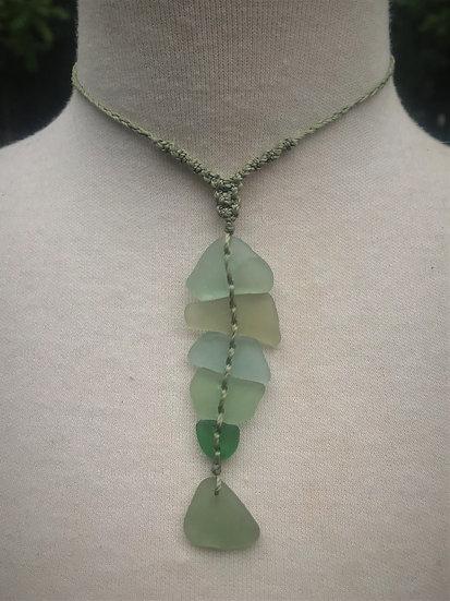 Unique Green Fish Nonmetal Sea Glass Necklace