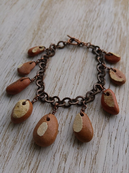 ocean pottery bracelet