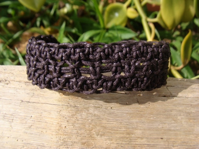macrame brown surf bracelet