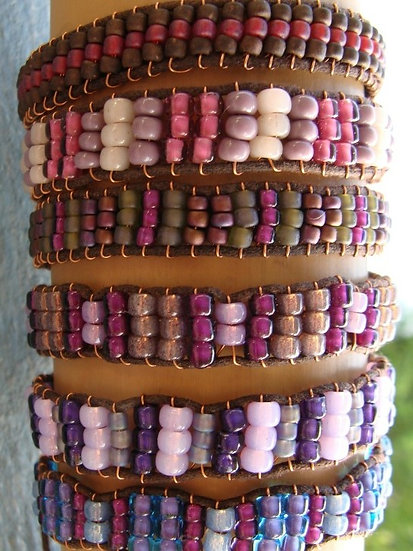 Purple Glass Bead Affordable Friendship Bracelets