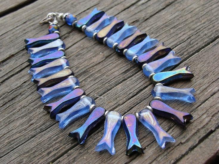 Chic Colorful Glass Bead Fish Bracelets