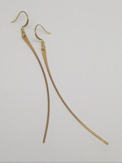 Sleek, Chic & Sexy Long Brass Wire Earrings
