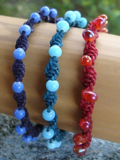 Colorful Glass Bead Macrame Kid Bracelets