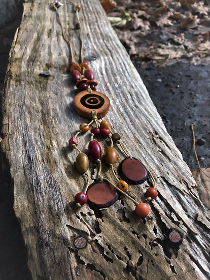 bamboo, Tagua Nut & Acai seed necklace