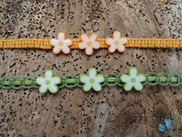 Nonmetal Macrame Colorful Flower Kid Necklaces